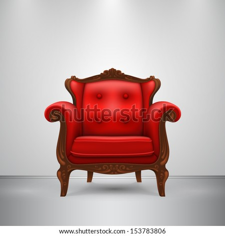 Vector retro chair - stock vector