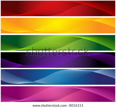vector retro colorful banners - stock vector