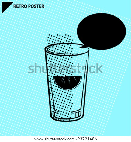 Vector retro drink