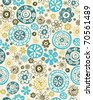 Vector retro floral seamless pattern - stock vector