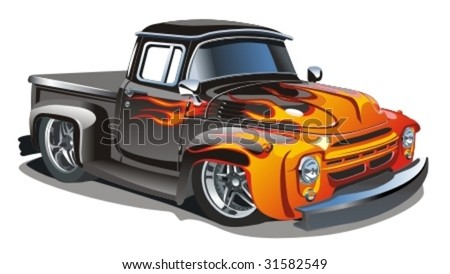 Vector retro hotrod - stock vector