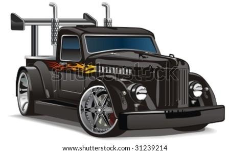 Vector retro hotrod. More vector cars see in my portfolio - stock vector
