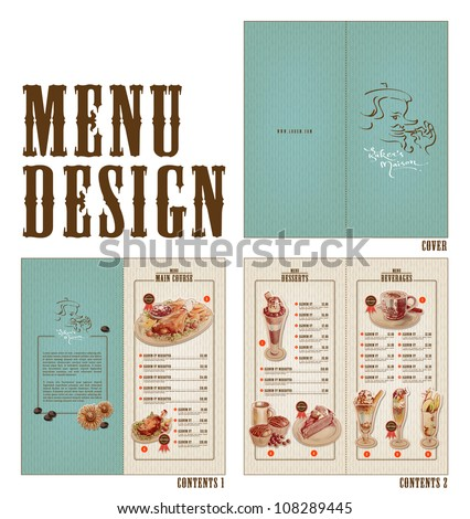 Vector Retro Menu Design