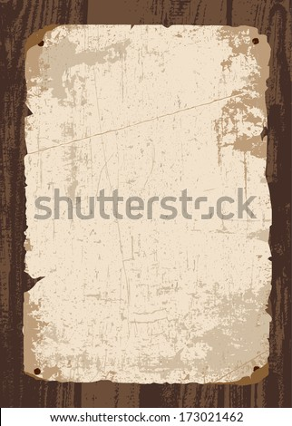 Vector retro old paper and parchment template. All pieces and distressed overlays are separated.  - stock vector