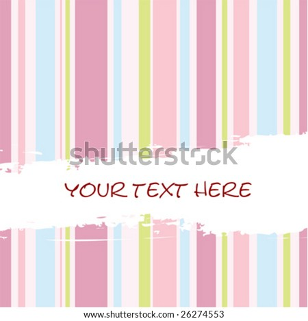 vector retro striped background with place for text - stock vector
