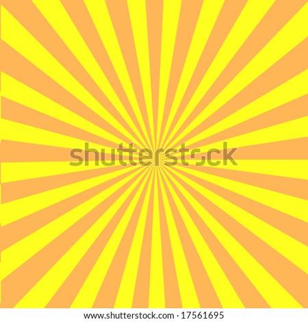 Vector Retro Sun Burst - stock vector