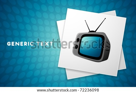 Vector Retro Television Illustration - stock vector
