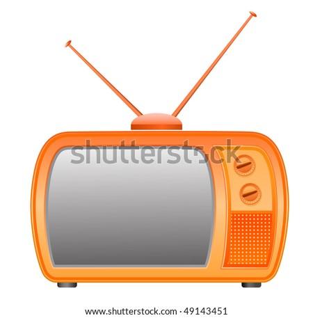 vector retro tv icon - stock vector