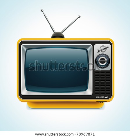 Vector retro TV XXL icon	 - stock vector