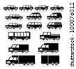 Vector Retro Vehicles Icon Set - stock vector