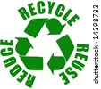 vector. reuse reduce recycle stamp - stock photo