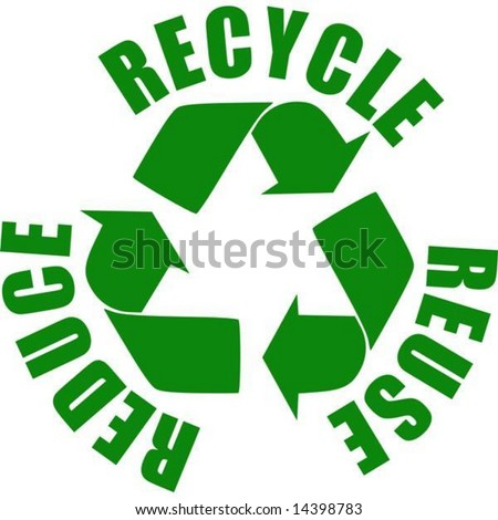 vector. reuse reduce recycle stamp - stock vector
