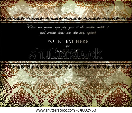 Vector Ribbon Frame and Background. Easy to edit. Perfect for invitations or announcements. - stock vector
