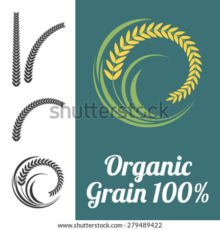 Vector rice sign - stock vector
