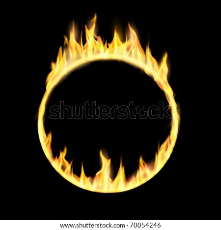 vector ring of fire illustration - stock vector