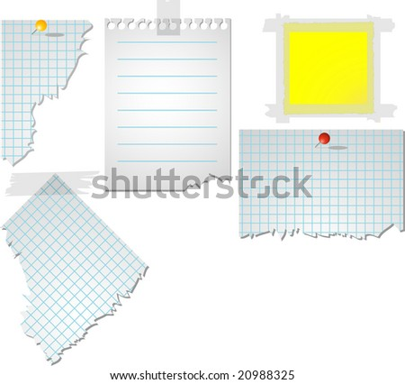 Vector ripped paper - stock vector
