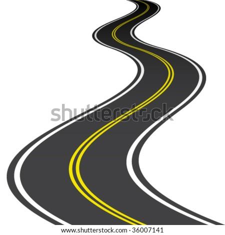 vector road - stock vector