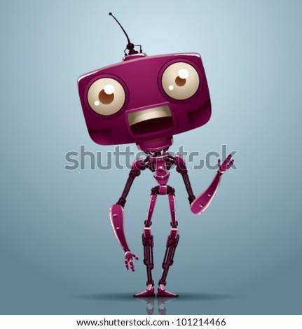 vector robot 5 - stock vector