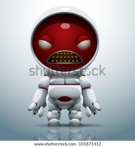 vector robot 8 - stock vector