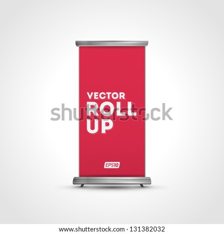 Vector Roll Up - stock vector