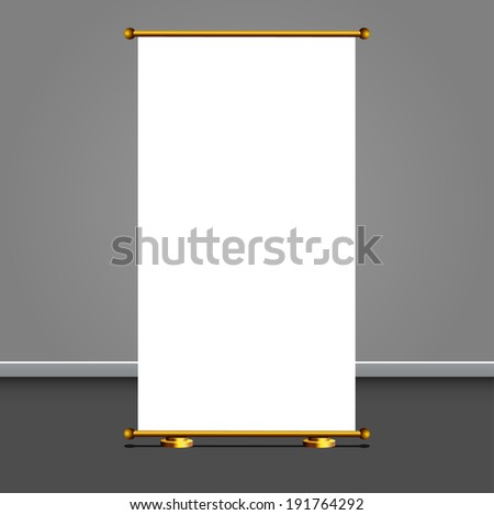 Vector ROLL UP DISPLAY for designers - stock vector