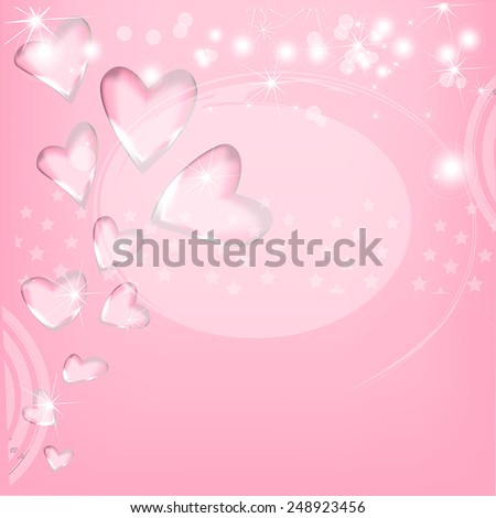 vector romantic background with hearts