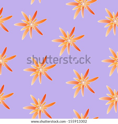 Vector romantic floral background.  Seamless pattern.