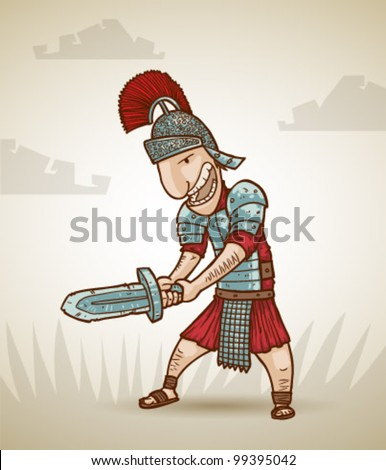 vector Rome warrior 2 - stock vector