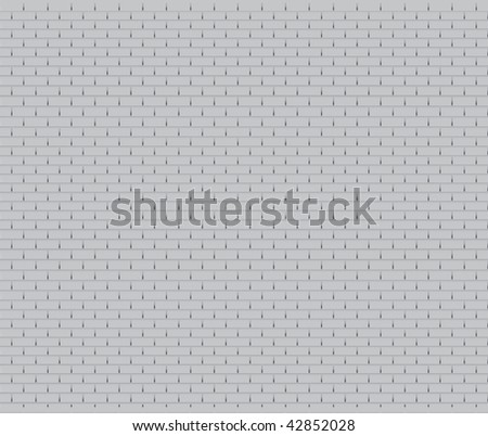 Vector roof shingle pattern.Each shingle is complete, including hidden; drawn similar to installation on real roof. Sides allow seamless repetitive copies. Gray scale for single color printing. - stock vector