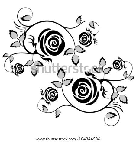Vector rose element, flower illustration background. - stock vector