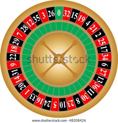 Vector roulette-wheel - stock vector