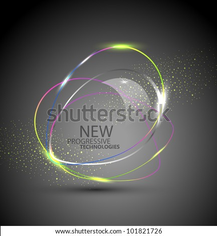 Vector round color banner. The element of web design on a white background - stock vector