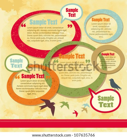 Vector Round Design Elements - stock vector