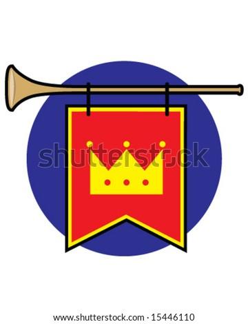vector royal trumpet - stock vector