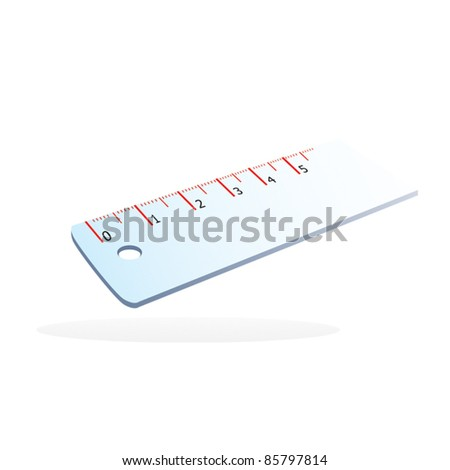 Vector ruler isolated - stock vector