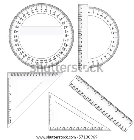 Vector Rulers - stock vector