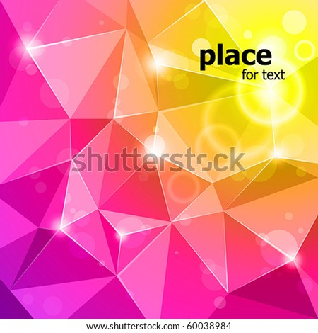 vector rumpled abstract background - stock vector