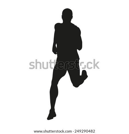 Vector runner silhouette - stock vector