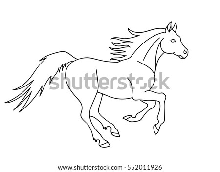 Horse Outline Stock Images, Royalty-Free Images & Vectors ... - photo#5