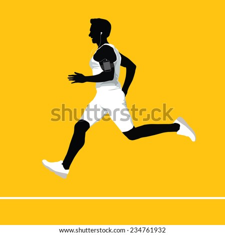 Vector Running Man - stock vector