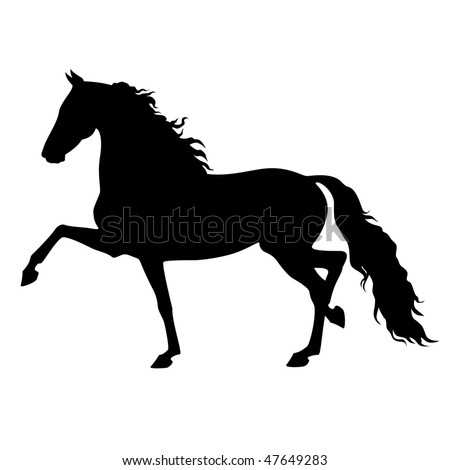vector running morgan horse isolated on a white background - stock vector