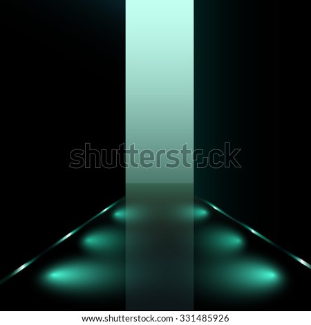 vector runway/corridor illustration - stock vector