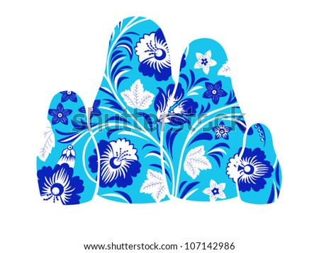 Vector. Russian dolls. Matreshka - stock vector