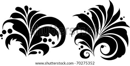 "Vector. Russian traditional ornament ""Hohloma"". - stock vector"