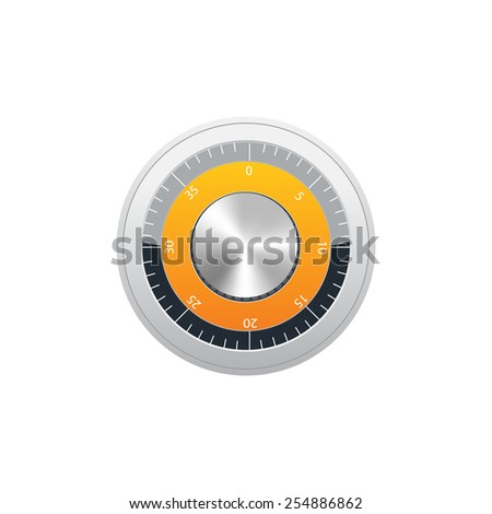 Vector safe with dial - stock vector