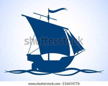 Ship Silhouette Stock Images, Royalty-Free Images ... Sailing Ship Vector