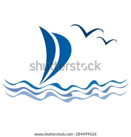 Vector sailing background
