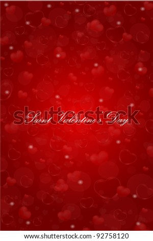 vector Saint Valentine's Day greeting card - stock vector