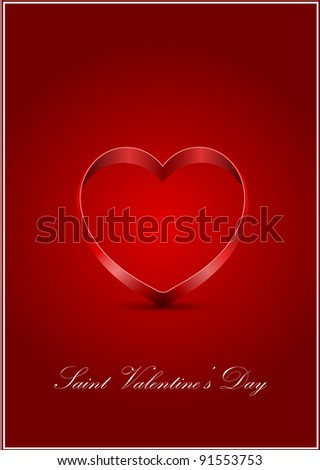 vector Saint Valentine's greeting card - stock vector