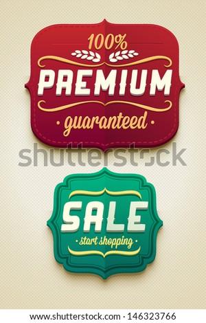 Vector sale badges - stock vector